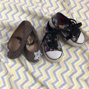 Bundle 2 pairs Toddler Girl Shoes